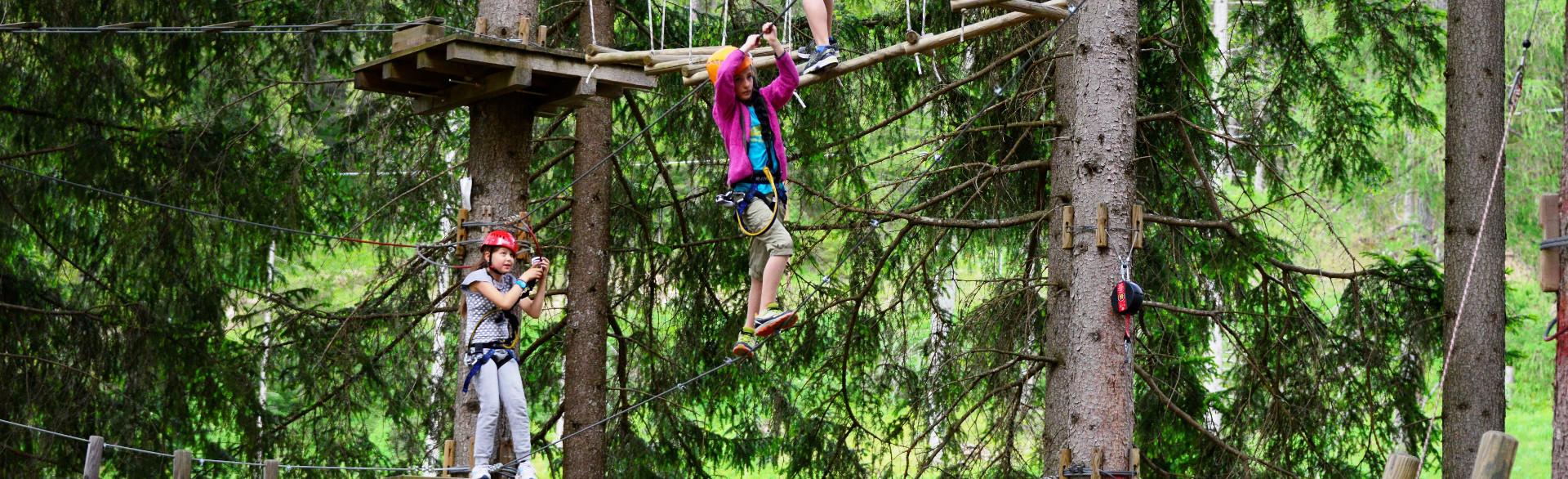Hochseilgarten & Klettergarten in Kaltern Südtirol - Outdoor Aktivitäten im Hotel in Kaltern