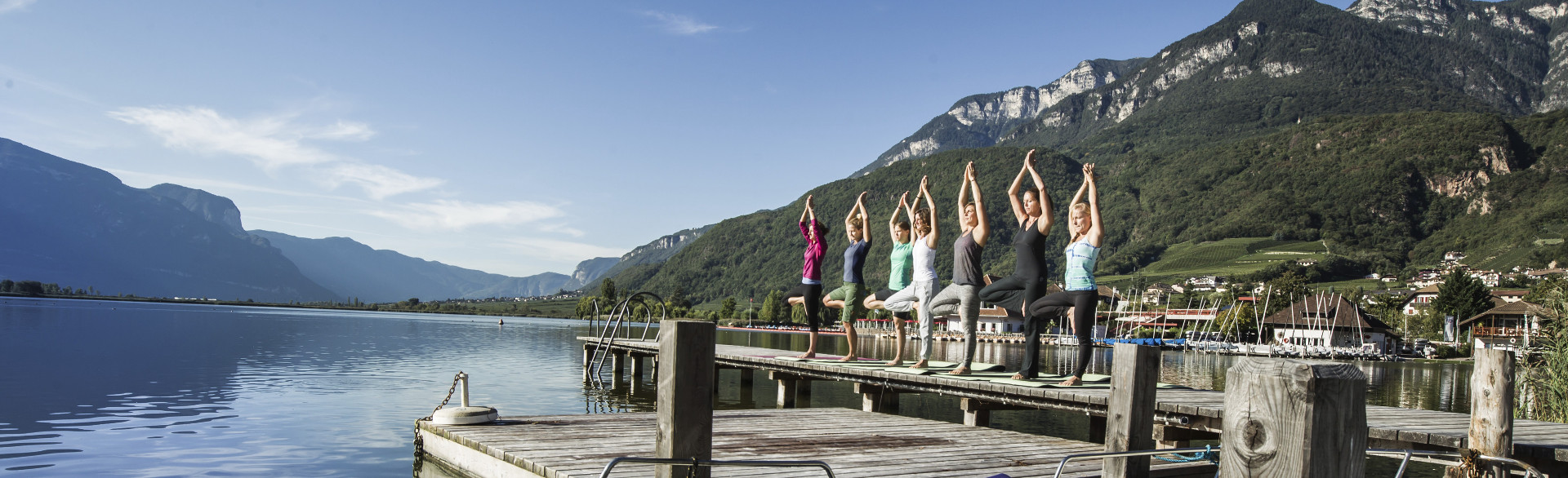 Yoga Kurse am Kalterer See - Yoga im See Hotel Kaltern