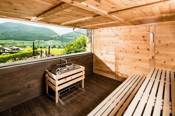 Finnische Sauna im Hotel Hasslhof mit Seeblick